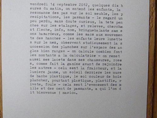 Marion Renauld - Écritures spontanées