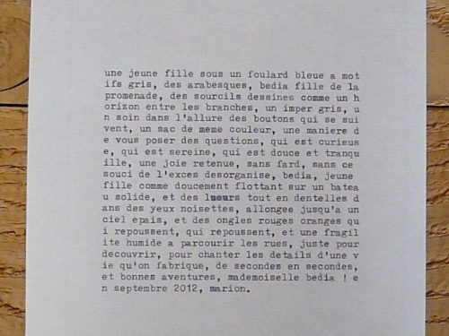Marion Renauld - Portrait verbaux
