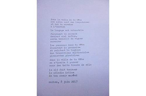 Marion Renauld - Poemes de rue