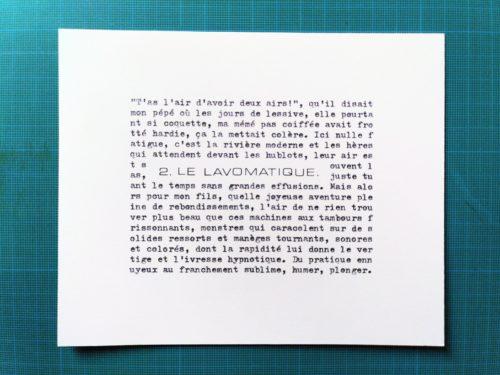 Marion Renauld - le lavomatique