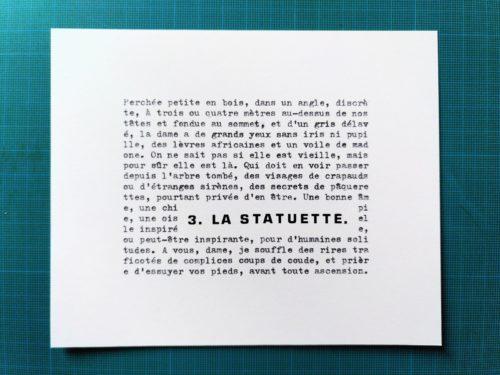 Marion Renauld - la statuette
